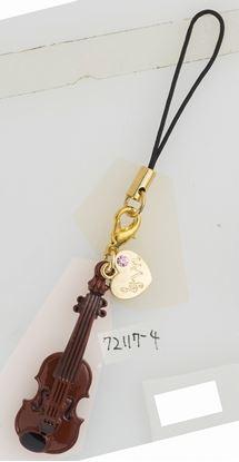 72117吹奏楽部ストラップ2 バイオリン【発注単位:5】 の画像