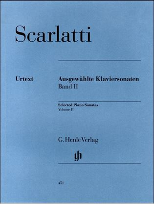 (451)スカルラッティ ソナタ選集第2巻 の画像
