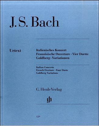 (129)バッハ イタリア協奏曲・フランス序曲・4つのデュエット・ゴルトベルク変奏曲 の画像