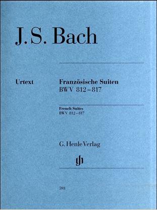 (593)バッハ フランス組曲 BWV812-817/原典版/Scheideler編/Schneidt運指/ヘンレ社/ピアノ・ソロ の画像